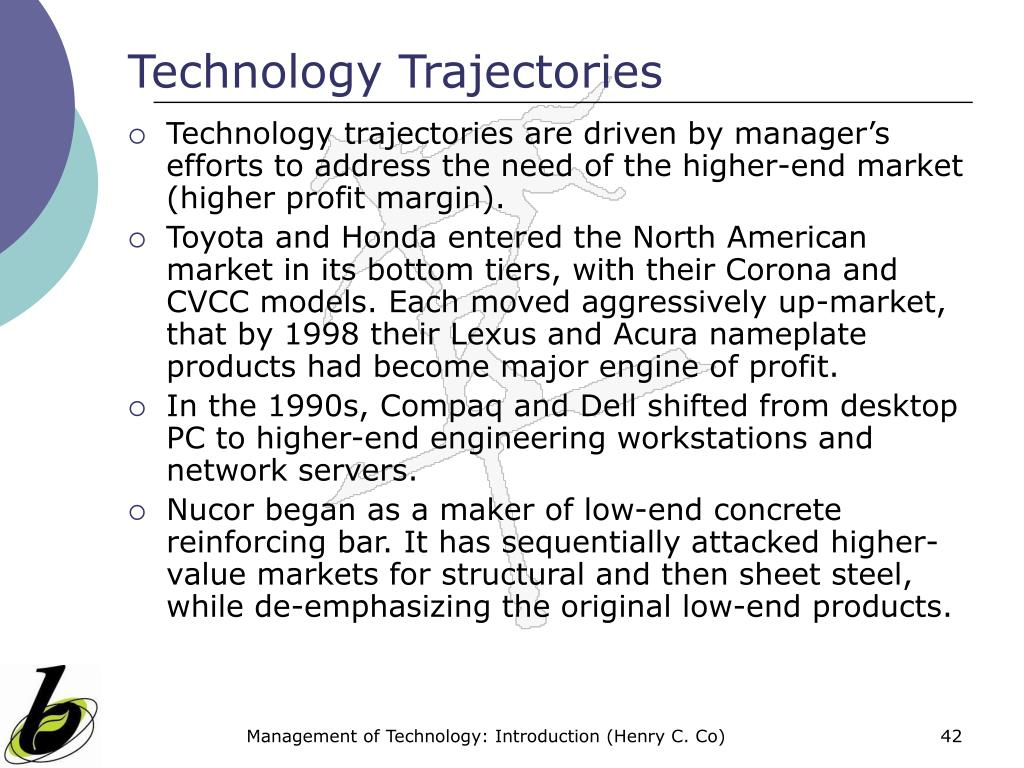 Technology Trajectories