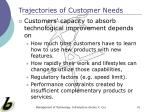 trajectories of customer needs