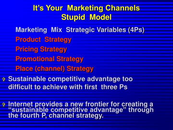 It's Your  Marketing Channels