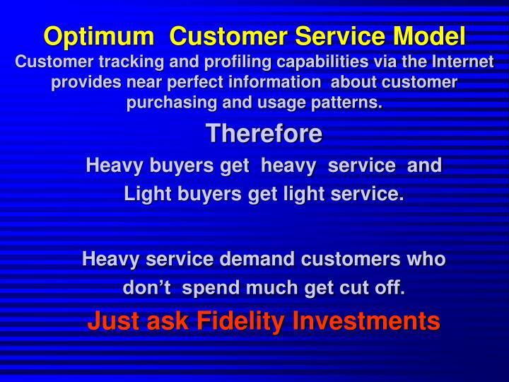 Optimum  Customer Service Model