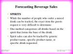 forecasting beverage sales9