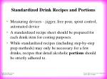 standardized drink recipes and portions12