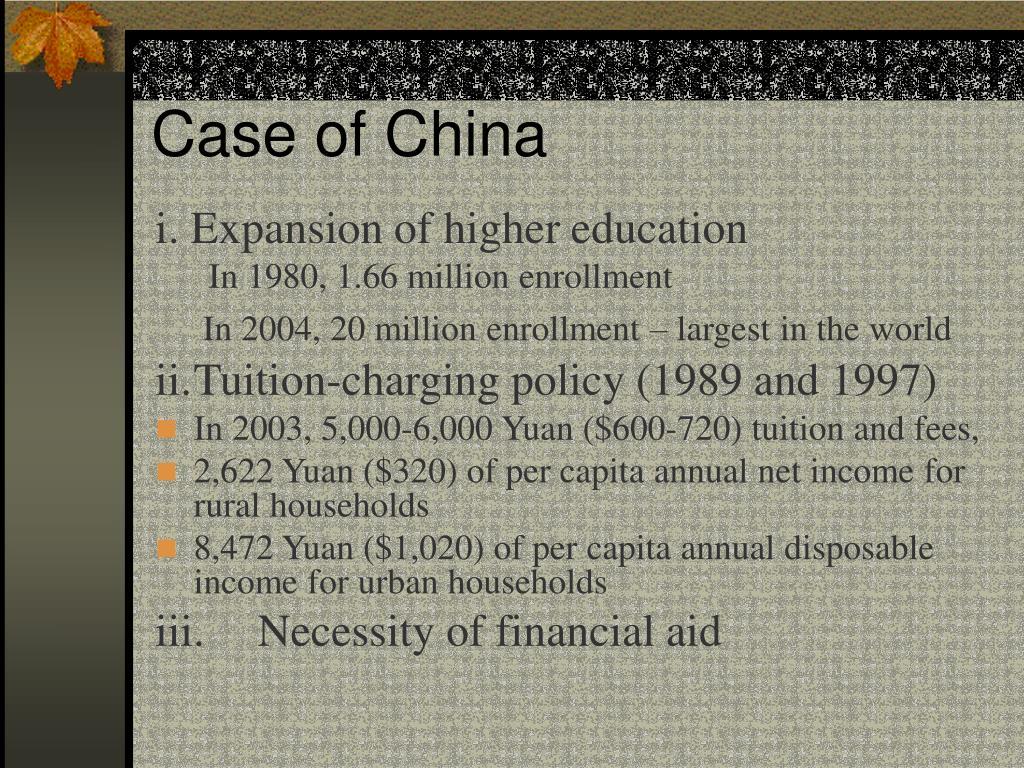 Case of China