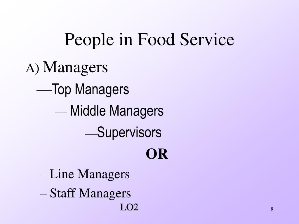 People in Food Service