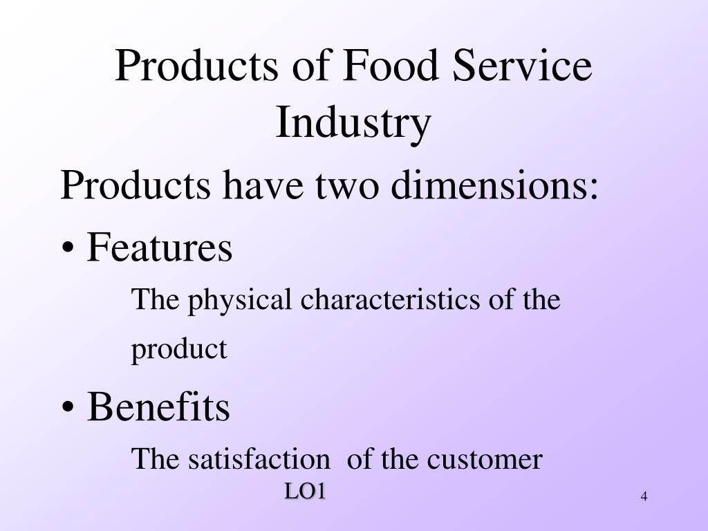 Products of Food Service Industry