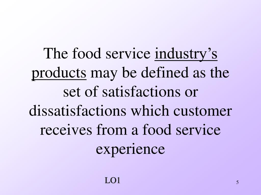 The food service