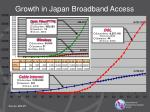 growth in japan broadband access