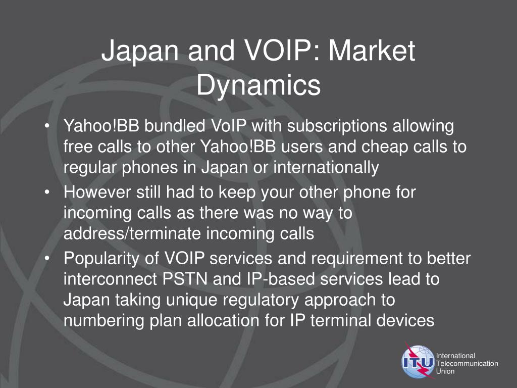 Japan and VOIP: Market Dynamics