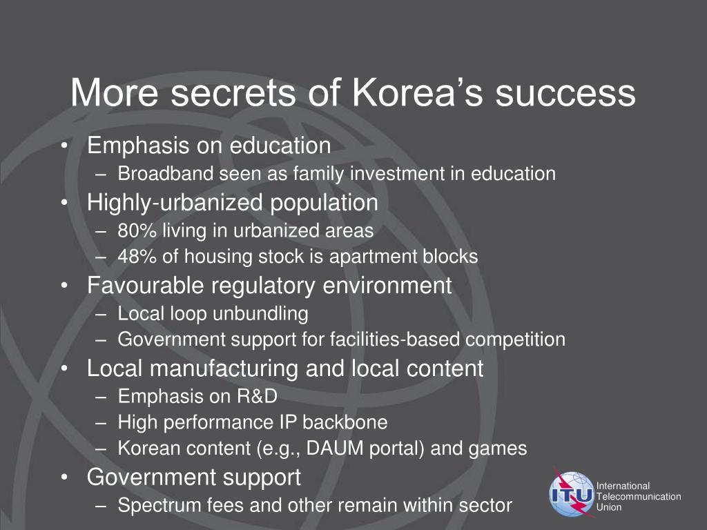 More secrets of Korea's success