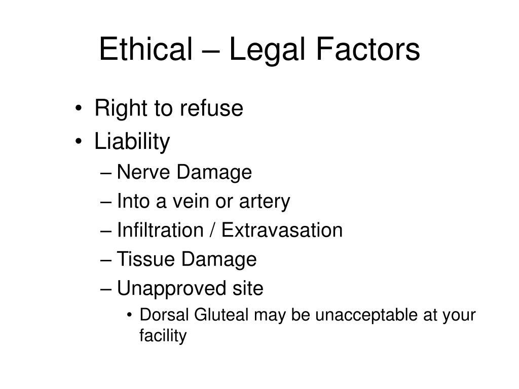 Ethical – Legal Factors