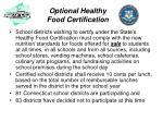 optional healthy food certification