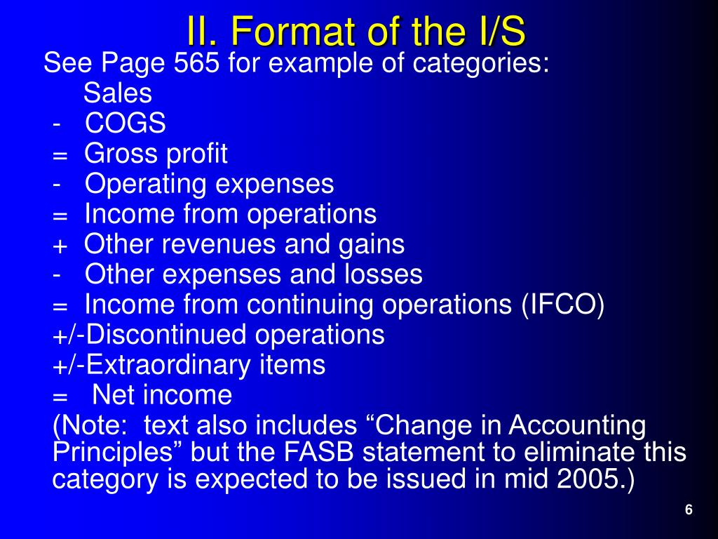 See Page 565 for example of categories: