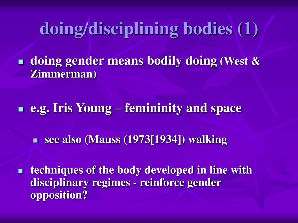 doing/disciplining bodies (1)