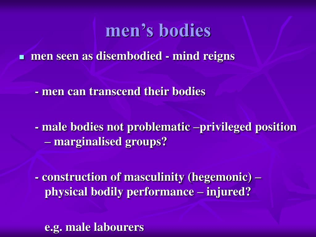 men's bodies