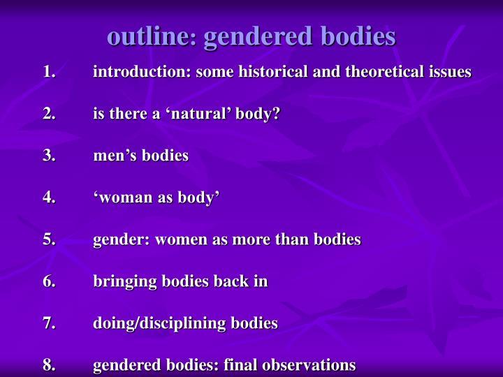 Outline gendered bodies