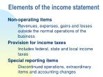 elements of the income statement22