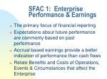 sfac 1 enterprise performance earnings