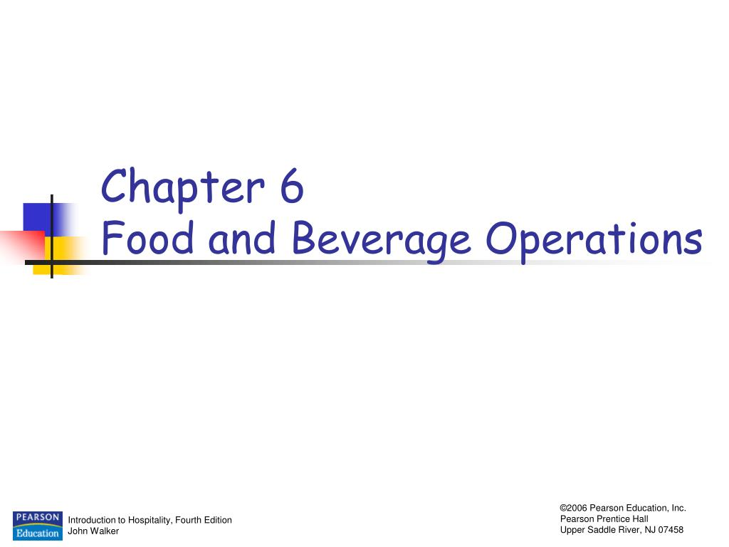chapter 6 food and beverage operations l.