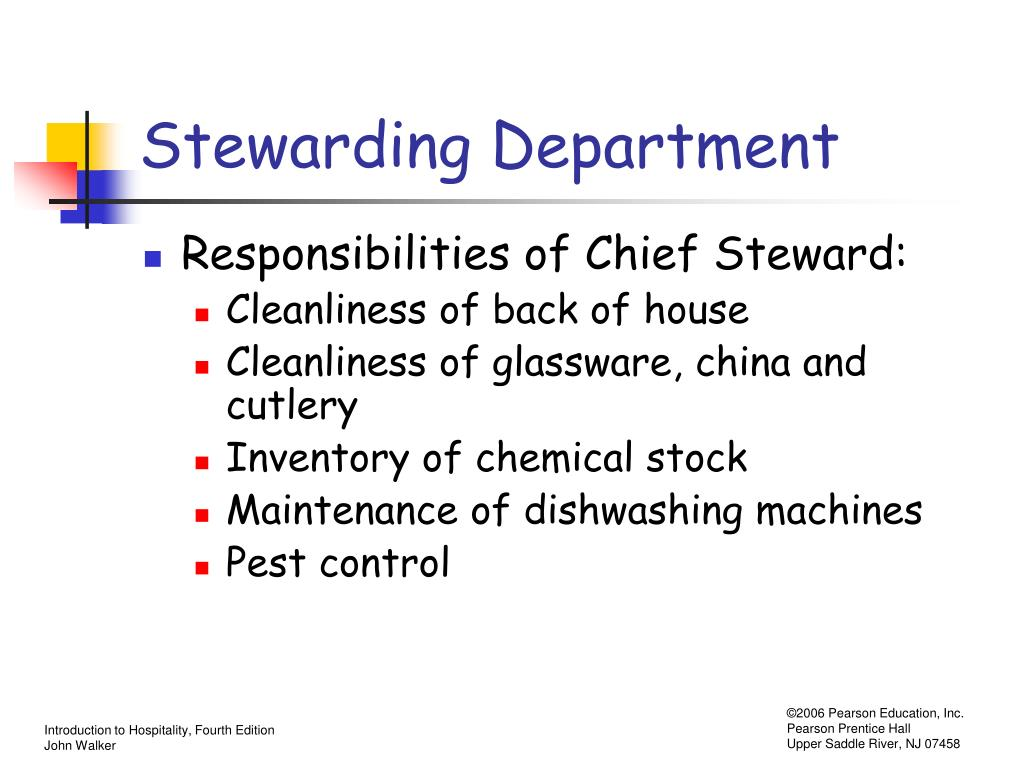 Stewarding Department