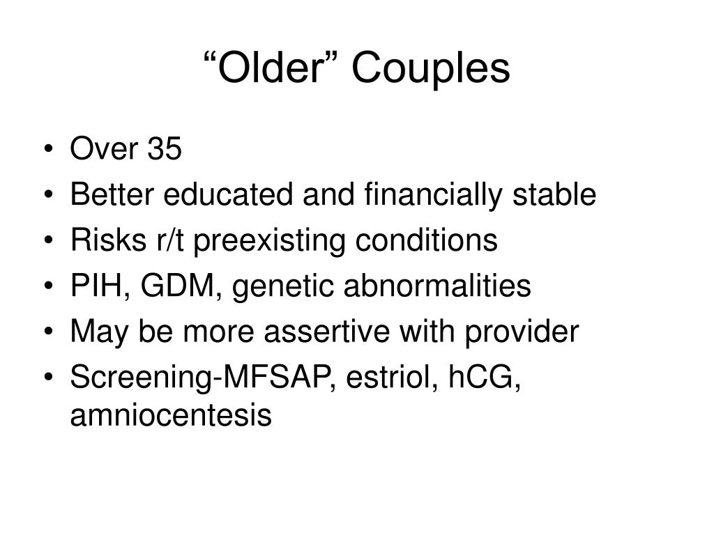 """Older"" Couples"