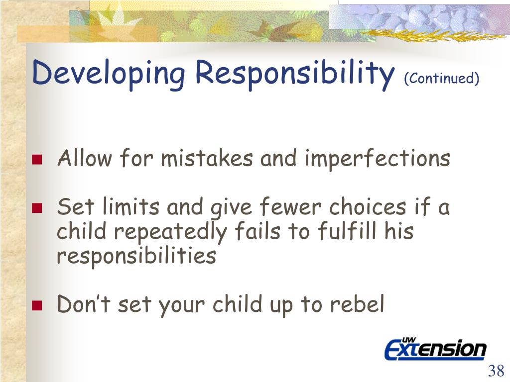Developing Responsibility