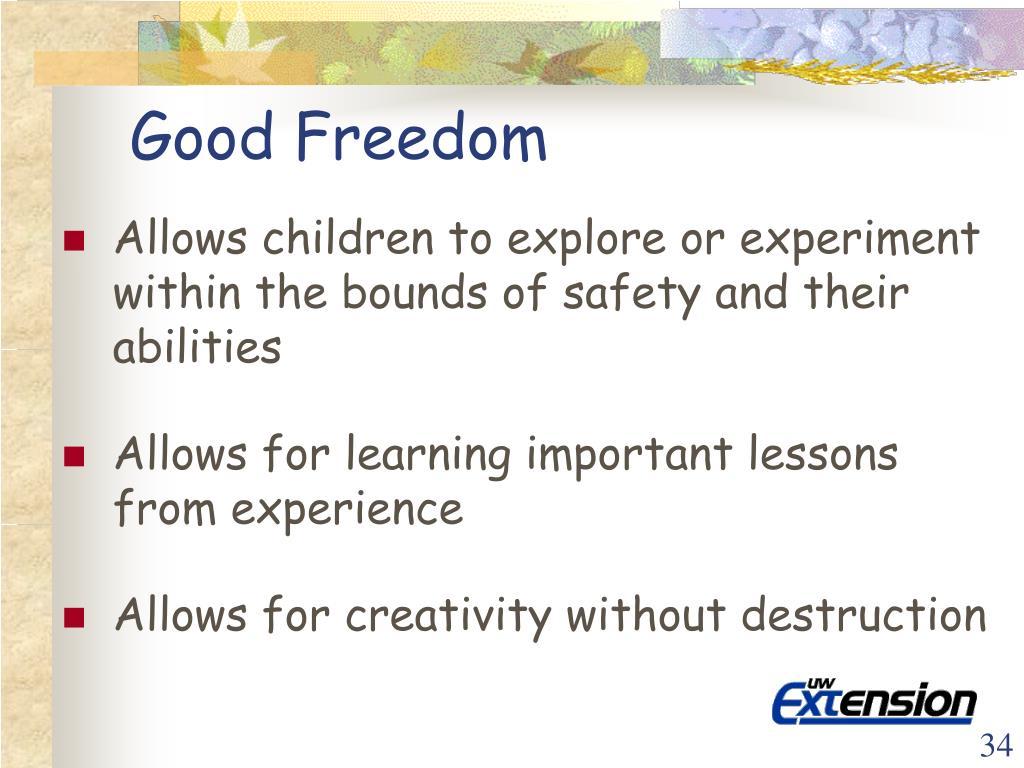 Good Freedom