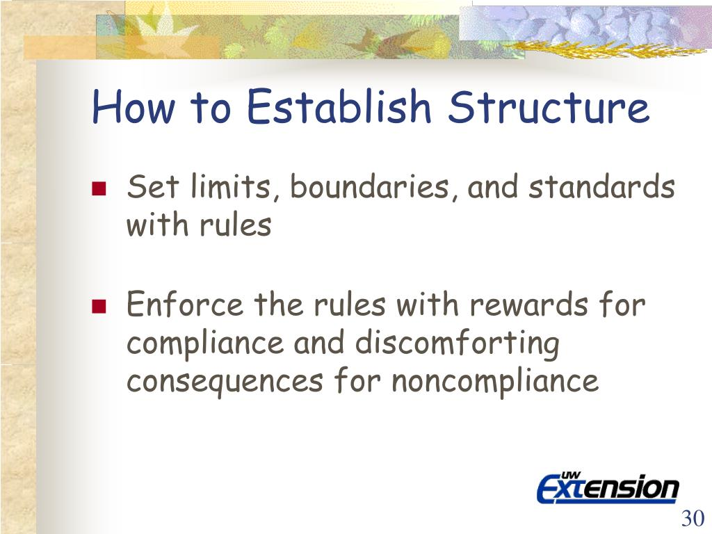 How to Establish Structure