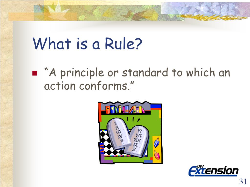 What is a Rule?