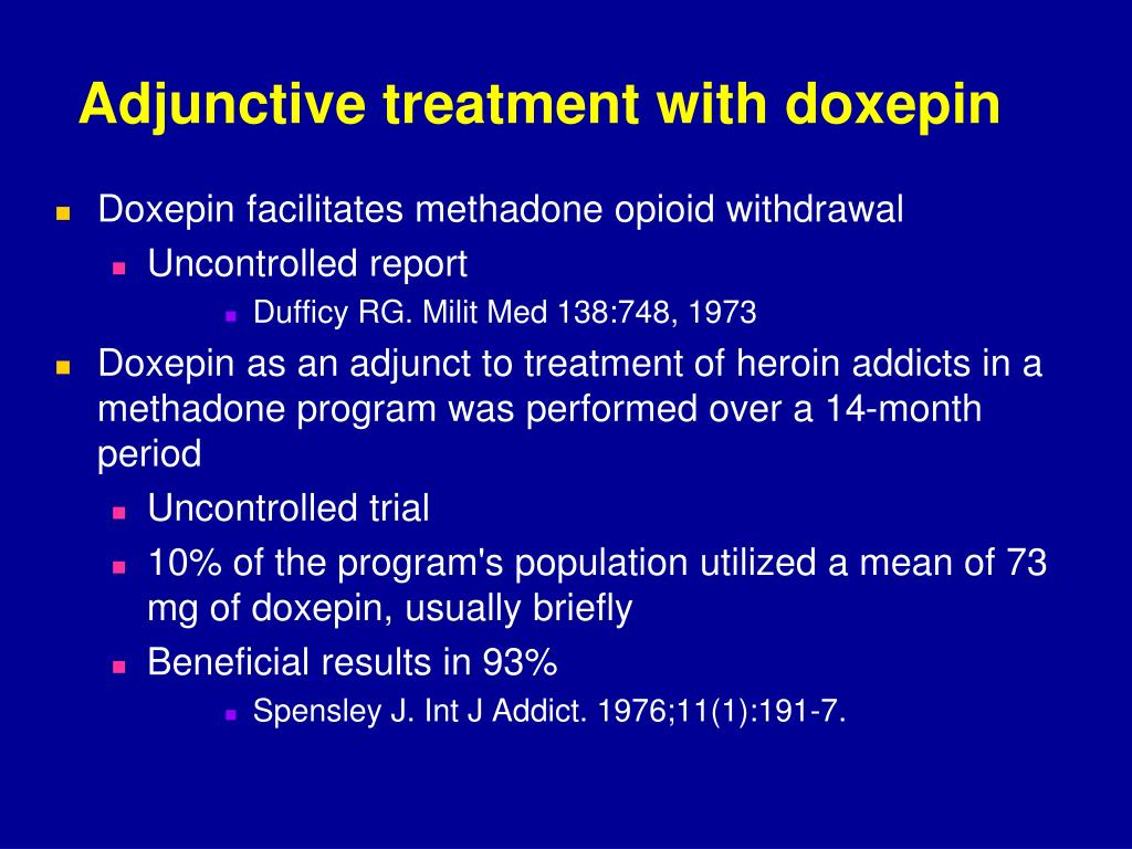 Adjunctive treatment with doxepin