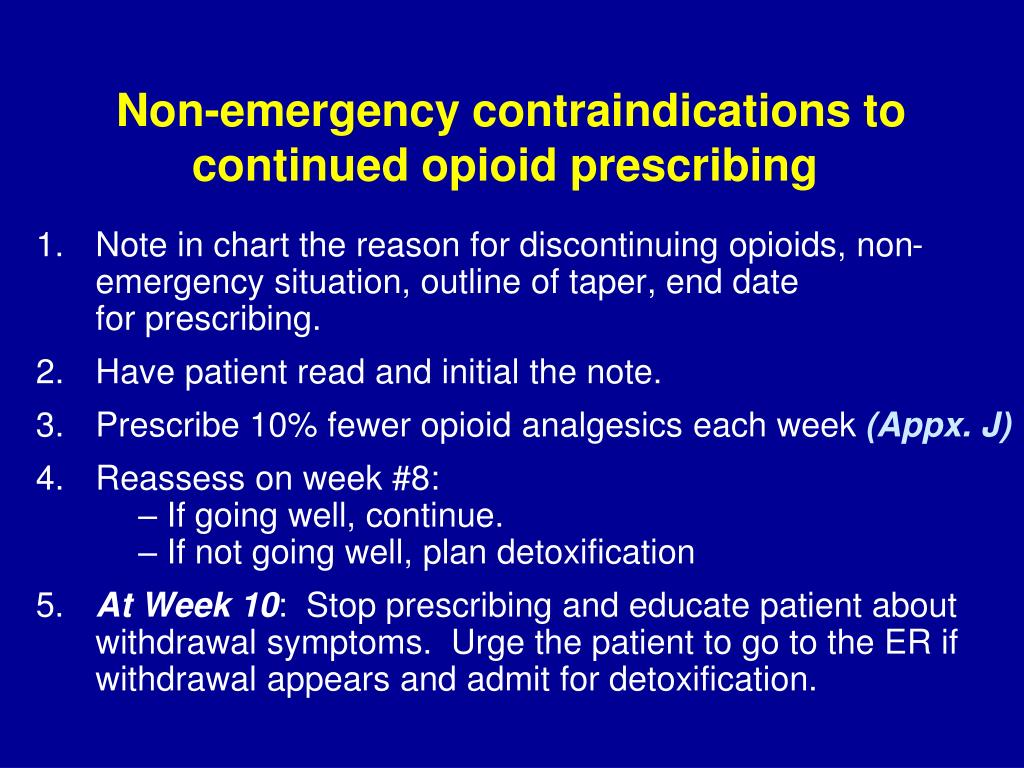 Non-emergency contraindications to