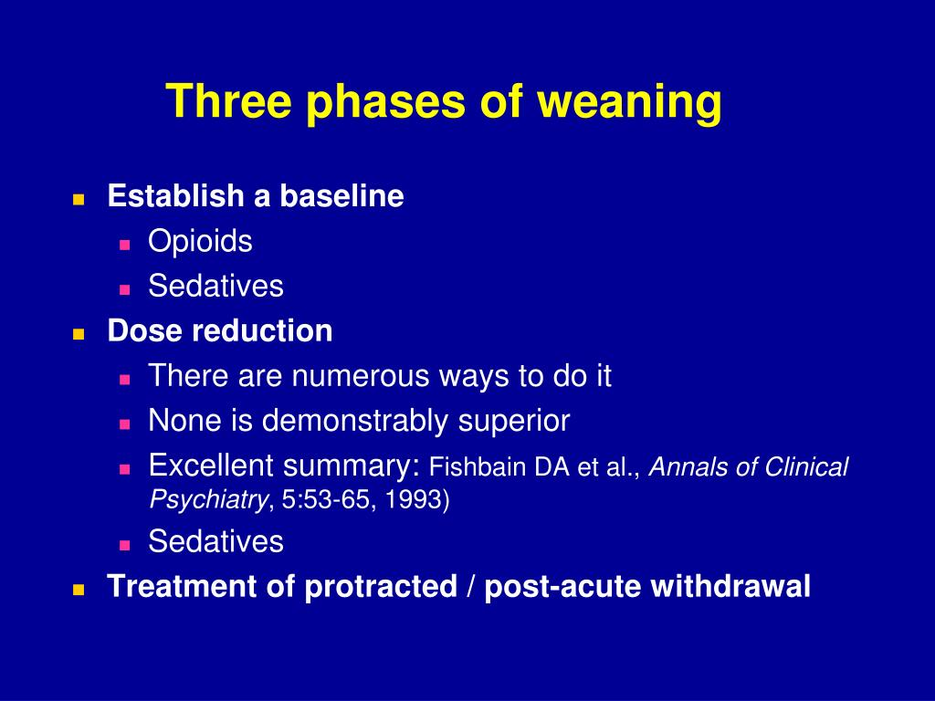Three phases of weaning