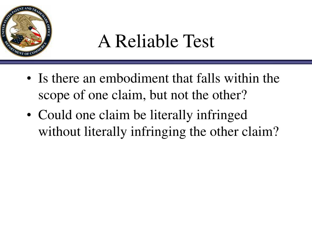 A Reliable Test