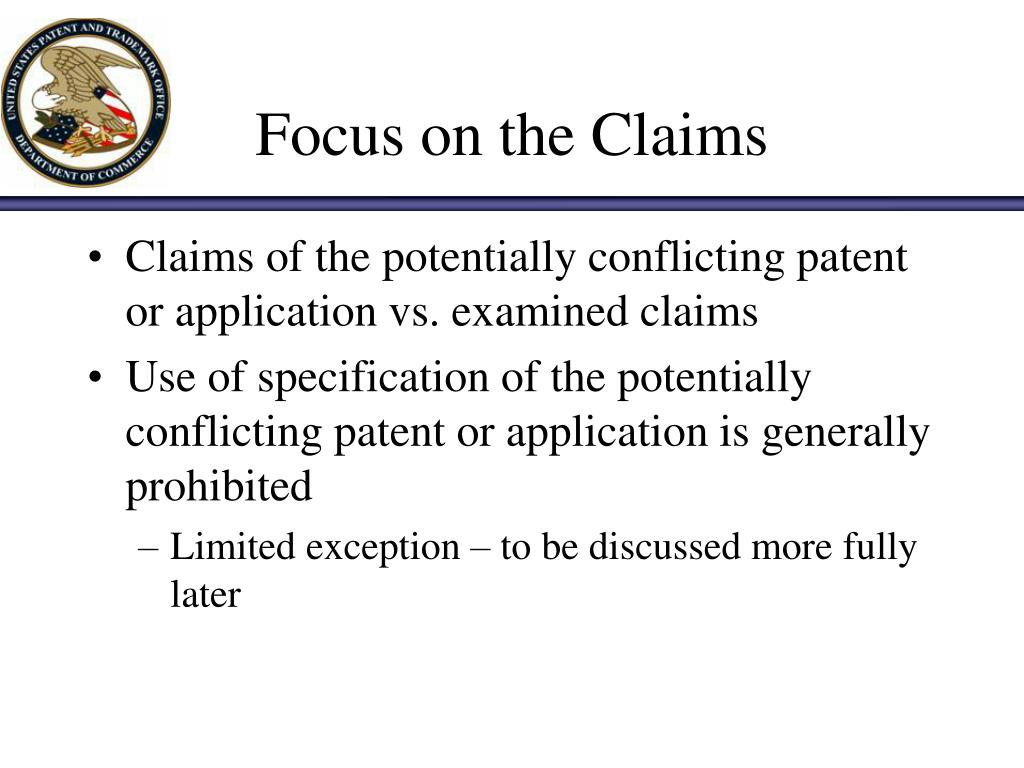 Focus on the Claims