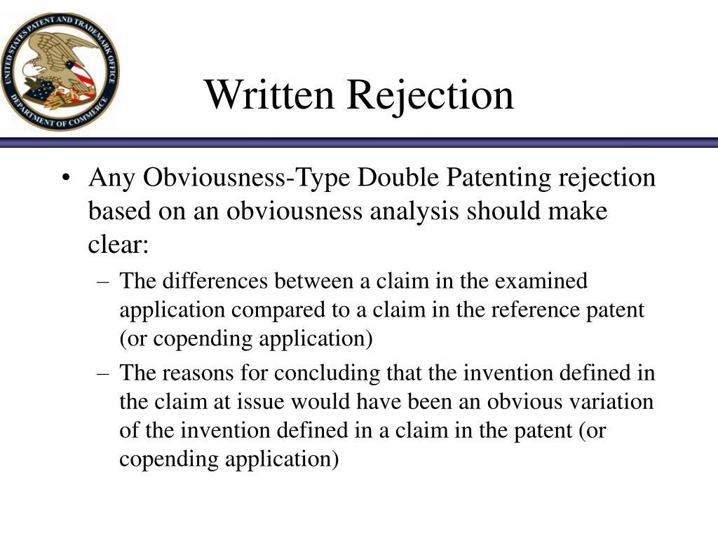 Written Rejection