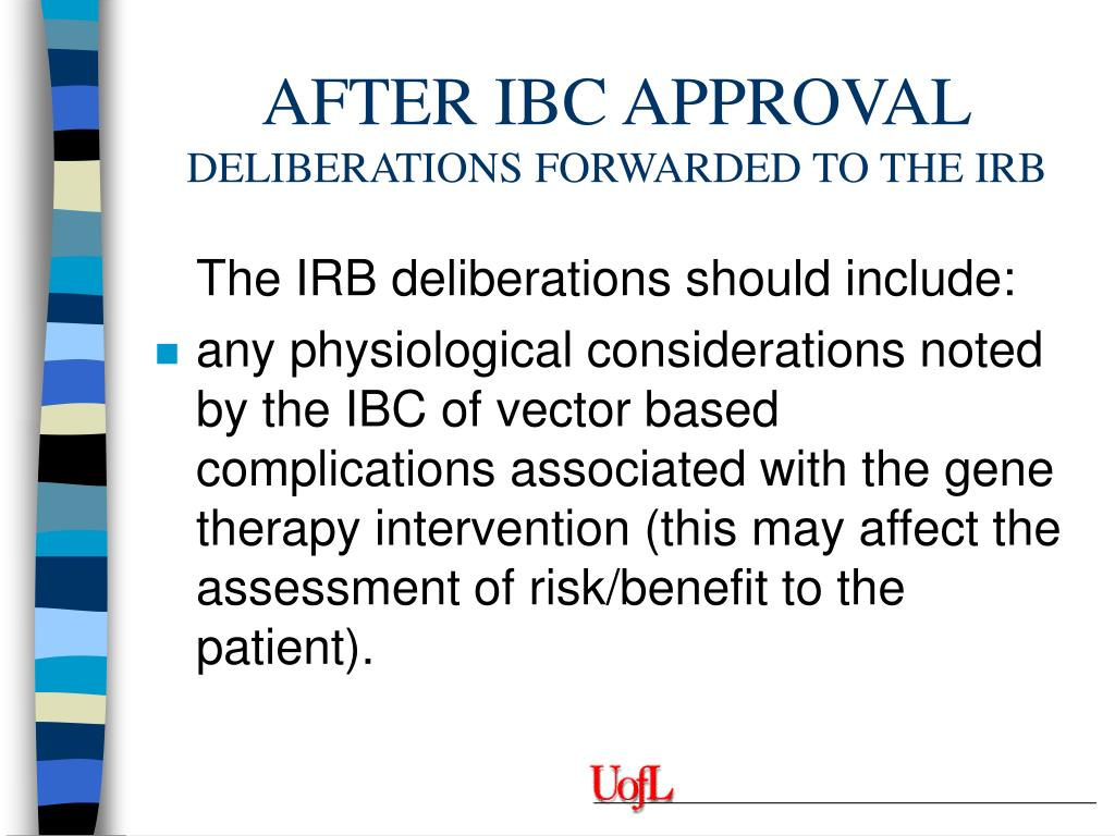 AFTER IBC APPROVAL