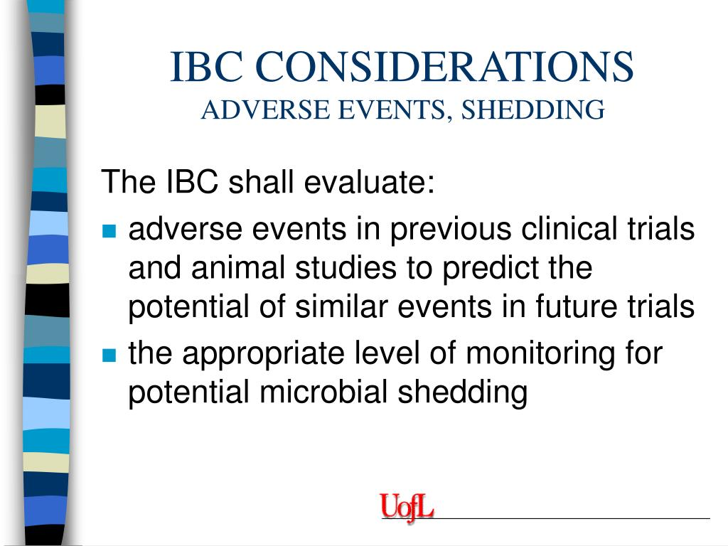 IBC CONSIDERATIONS