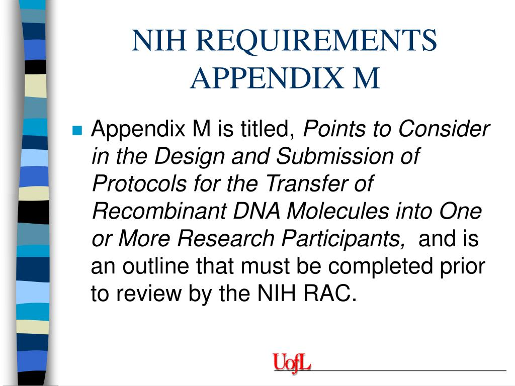 NIH REQUIREMENTS