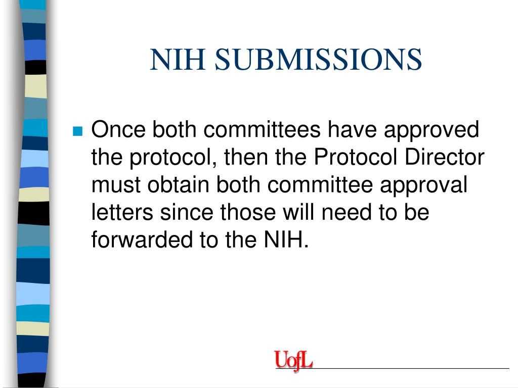 NIH SUBMISSIONS