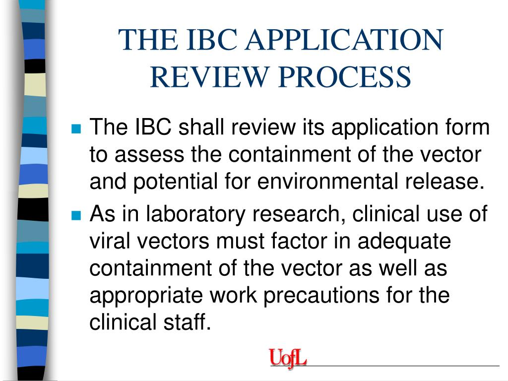 THE IBC APPLICATION REVIEW PROCESS