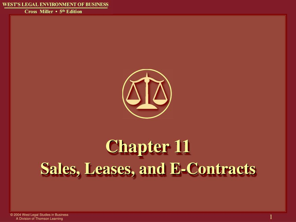 chapter 11 sales leases and e contracts