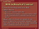 rol in breach of contract
