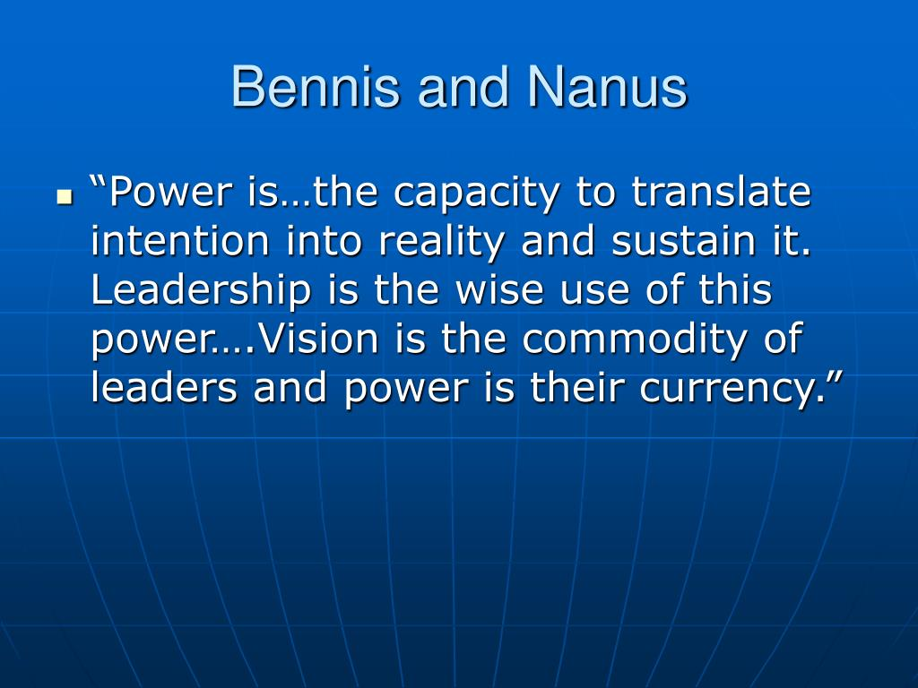 Bennis and Nanus