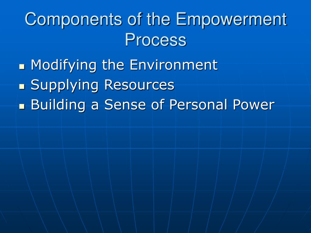 Components of the Empowerment Process