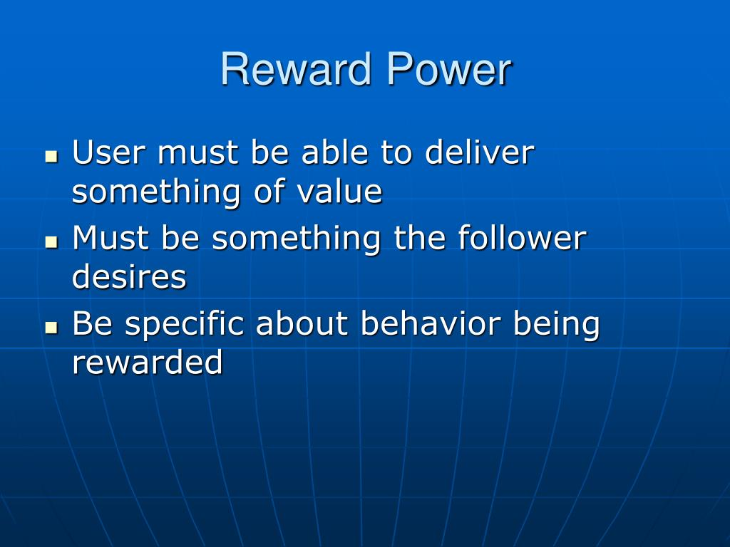 Reward Power