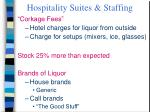 hospitality suites staffing