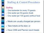 staffing control procedures