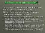 all advances interrelated