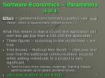 software economics parameters 4 of 4