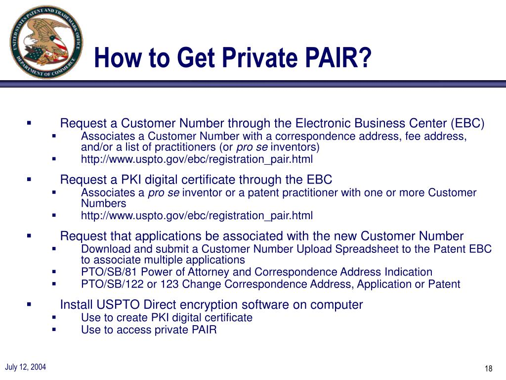 How to Get Private PAIR?