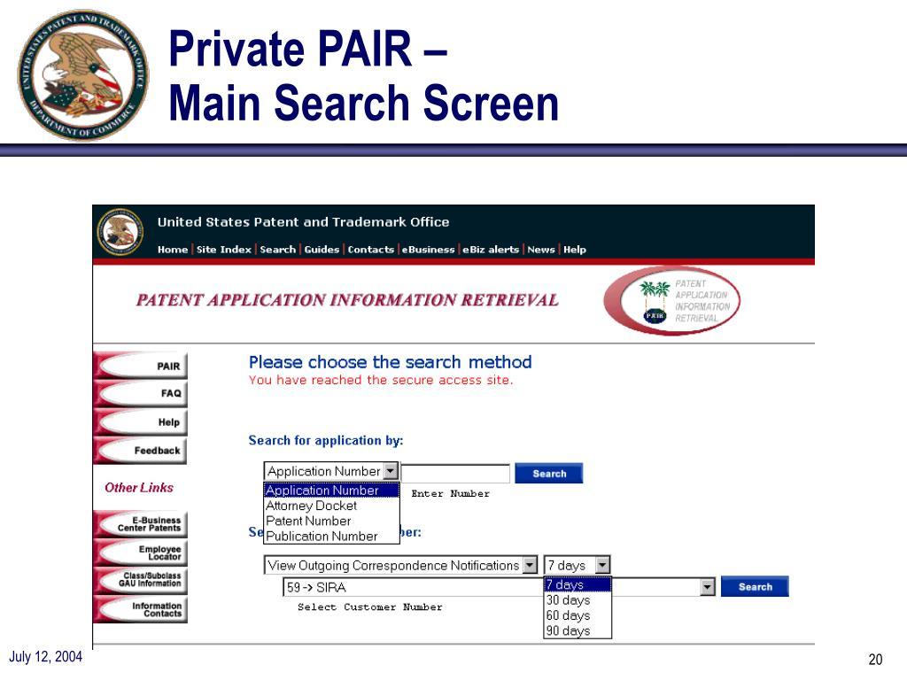 Private PAIR –